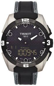 Tissot T-Touch Expert Solar Solaruhr Zifferblatt schwarz Gehaeuse Titan Band Leder schwarz