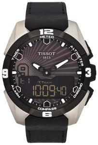 Tissot T-Touch Expert Solar Tony Parker 2014 Limited Edition Solaruhr Zifferblatt schwarz Gehaeuse Titan Band Leder