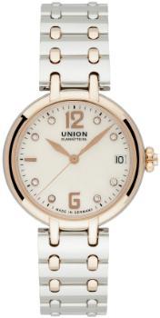 UNION Glashuette Sirona mit Datum, Zentralsekunde und Brillantbesatz in der Version D901-207-44-116-01