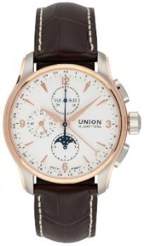 Union Glashuette Belisar Chronograph Mondphase in der Version D902-425-46-037-11 mit englischer Anzeige