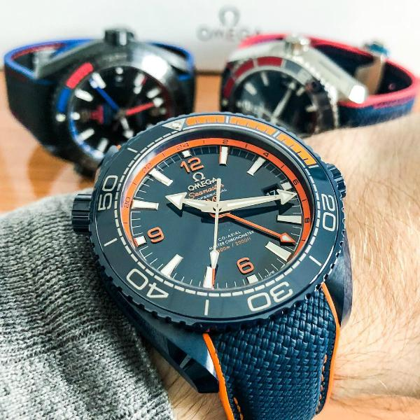 Omega Seamaster Planet Ocean 600 M Co-Axial Master Chronometer GMT 45,5mm Big Blue in der Version 215-92-46-22-03-001