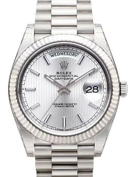 Rolex Oyster Perpetual Day-Date 40 18kt Weissgold