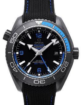 Omega Seamaster Planet Ocean 600 M Co-Axial Master Chronometer GMT 45,5mm Deep Black Blau