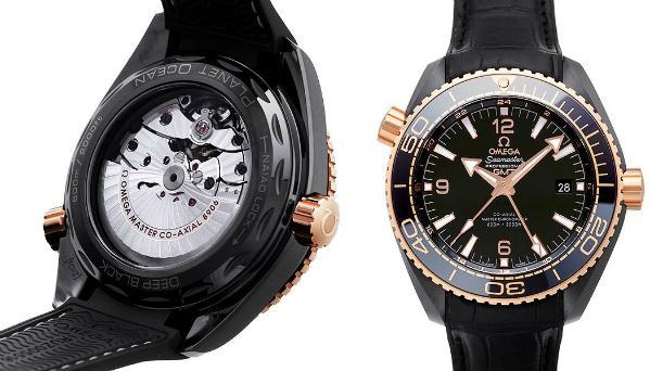Omega Seamaster Planet Ocean 600 M Co-Axial Master Chronometer GMT 45,5mm Deep Black Keramik 18kt Rosegold