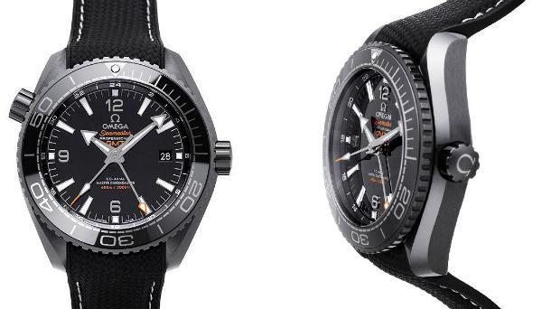 Omega Seamaster Planet Ocean 600 M Co-Axial Master Chronometer GMT 45,5mm Deep Black Schwarz
