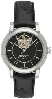 Tissot T-Classic Lady Heart Damenuhr Lederband Zifferblatt schwarz