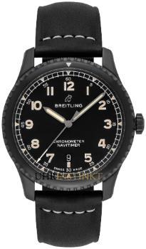 Breitling Navitimer 8 Automatic 41 Black Steel Kalbsleder
