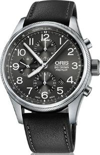 Oris Big Crown ProPilot Chronograph Herrenuhr Leder grau