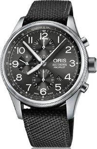 Oris Big Crown ProPilot Chronograph Herrenuhr Textil grau