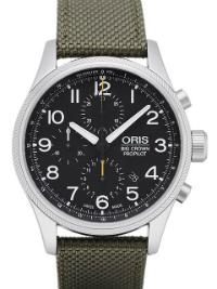 Oris Big Crown ProPilot Chronograph Herrenuhr Textil gruen
