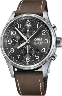 Oris Big Crown ProPilot Chronograph Leder braun