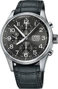 Oris Big Crown ProPilot Chronograph Leder schwarz