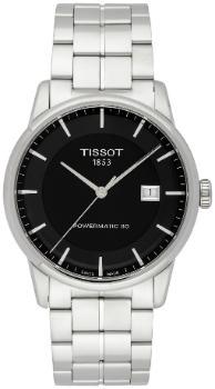 Tissot T-Classic Luxury Automatic Powermatic 80 Zifferblatt schwarz