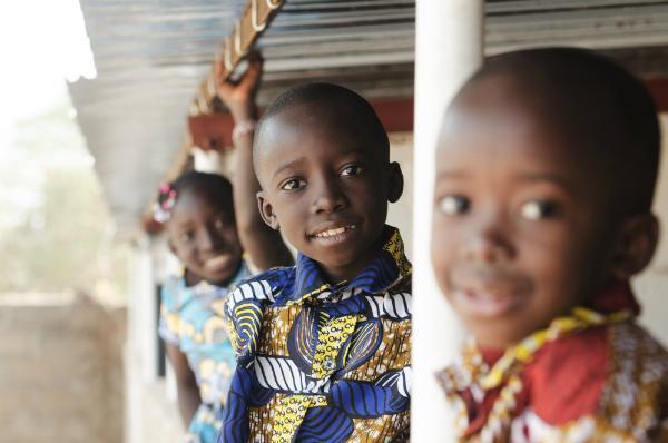 Drei afrikanische Kinder
