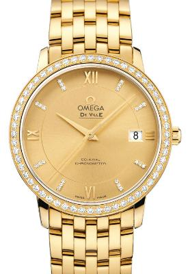 Omega De Ville Prestige Co-Axial in der Version 424-55-37-20-58-001 in 18K Gelbgold