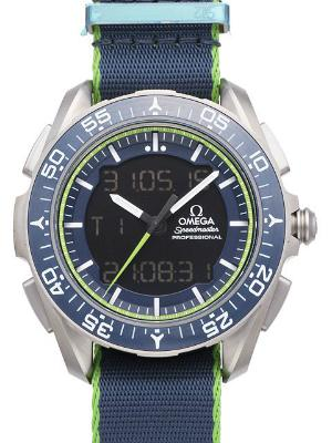 Omega Speedmaster Skywalker X-33 Chronograph 45mm Limited Edition blau gruen