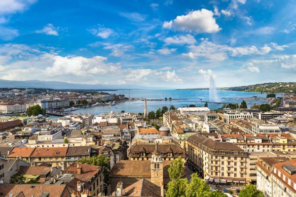 Panoramablick von Genf