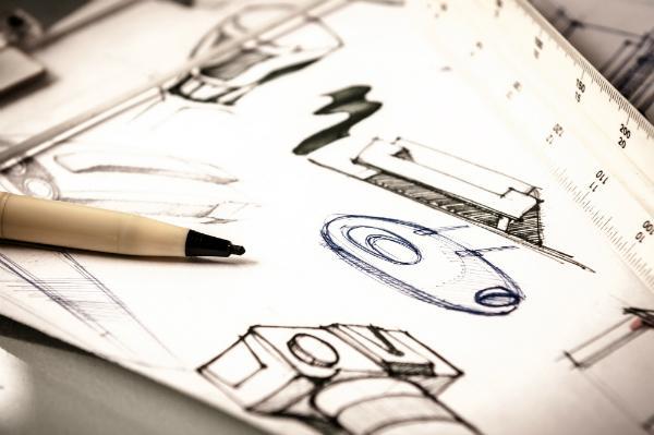 Skizze eines Produktdesigns