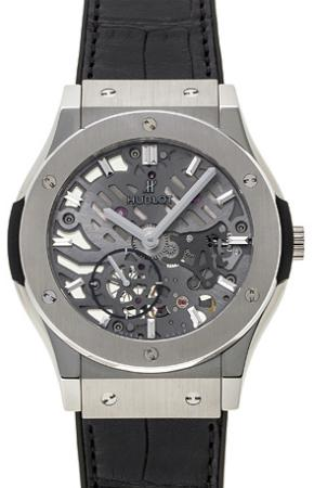 Hublot Classic Fusion 42mm Classico Ultra-Thin Skeleton in der Version 545-NX-0170-LR