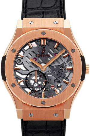Hublot Classic Fusion 42mm Classico Ultra-Thin Skeleton in der Version 545-OX-0180-LR