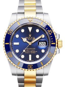 Rolex Submariner Date neues Blau auf Zifferblatt und Luenette