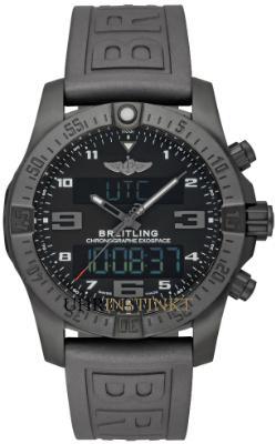 Breitling Exospace B55 Connected Herrenuhr Beschichtet Schwarz schwarz Kautschuk Quarz