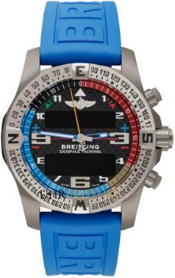 Breitling Exospace B55 Yachting Herrenuhr Titan schwarz Kautschuk Quarz