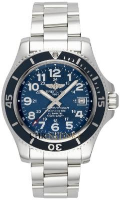 Breitling Superocean II 42 Herrenuhr Edelstahl blau Automatik