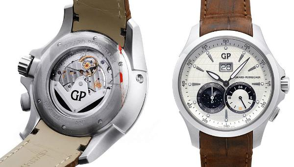 Girard Perregaux Traveller Large Date, Moonphase und GMT in der Version 49655-11-132-BB6A