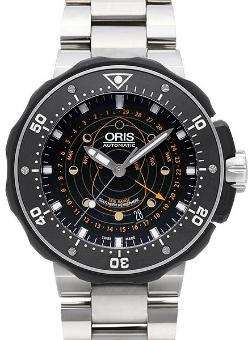 Oris Diving ProDiver Pointer Moon in der Version 01 761 7682 7134-Set in Titan mit Keramik-Luenette