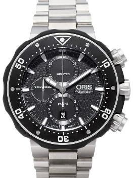 Oris ProDiver Chronograph in der Version 01 774 7683 7154-Set in Titan
