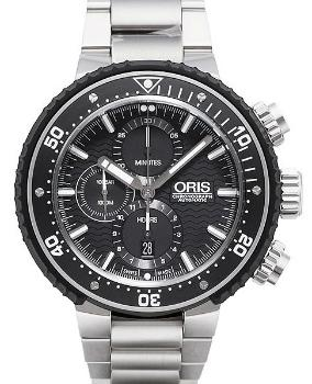 Oris ProDiver Chronograph in der Version 01 774 7727 7154-Set in Titan