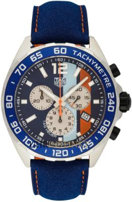 Tag Heuer Formula 1 Quarz Chronograph 43mm Gulf Spezial Edition in der Version CAZ101N-FC8243