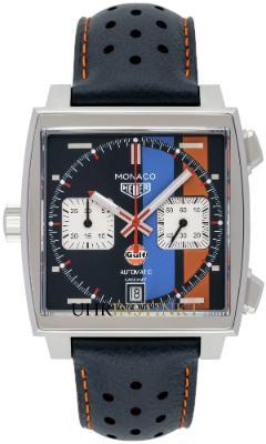 Tag Heuer Monaco Calibre 11 Automatik Chronograph Gulf Special Edition in der Version CAW211R-FC6401