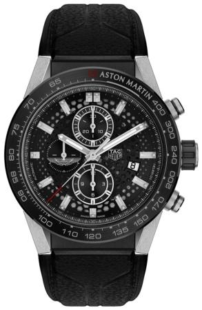 Tag Heuer Carrera Calibre HEUER 01 Automatik Chronograph 45mm Aston Martin Special Edition in der Version CAR2A1AB-FT6163