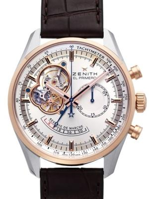 Zenith El Primero Chronomaster Open Power Reserve in der Version 51-2080-4021-01-C494 in Edelstahl mit 18K Rosegold
