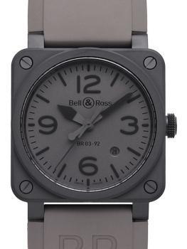Bell Ross BR0392-COMMANDO-CE aus Keramik mit Kautschukband