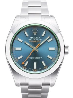 Rolex Milgauss 116400 GV in Edelstahl mit blauem Zifferblatt