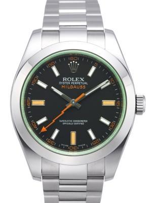 Rolex Milgauss 116400 GV in Edelstahl mit schwarzem Zifferblatt
