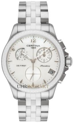 Certina Quarz DS First Lady Ceramic Chrono Mondphase Precidrive
