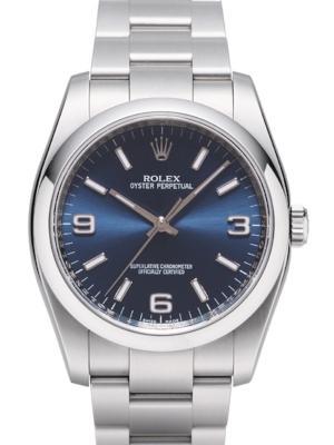 Rolex Oyster Perpetual 36 Zifferblatt blau