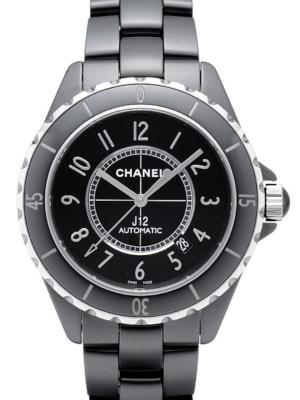 Chanel J12 Black Ceramic in der Version H2980 in schwarzer Hightech-Keramik