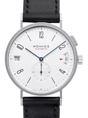 NOMOS Glashuette Tangomat GMT in der Version 635 mit Saphirglasboden