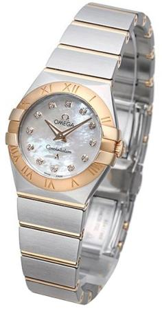 Omega Constellation Brushed Quarz Mini in der Version 123-20-24-60-55-001 in Edelstahl und 18 K Rosegold