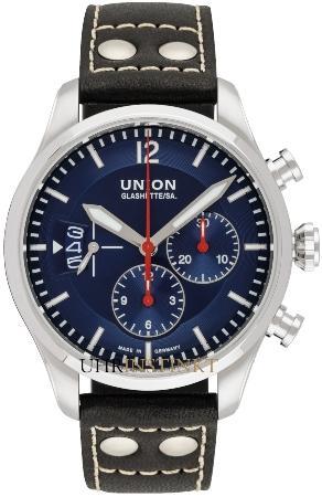 Union Glashuette Belisar Pilot Chronograph in der Version D009-627-16-047-00