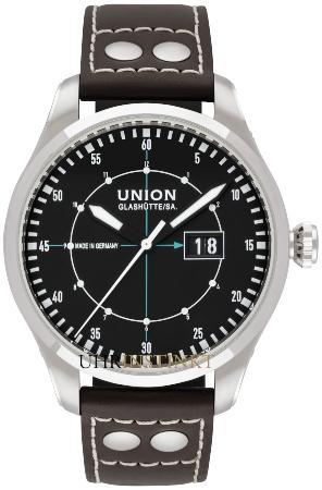 Union Glashuette Belisar Pilot Grossdatum in der Version D009-626-16-057-00