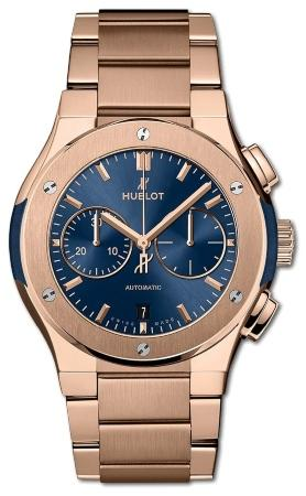 Hublot Classic Fusion Chronograph King Gold Blue Bracelet 42 mm in der Version 540-OX-7180-OX