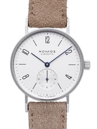 NOMOS Glashuette Tangente 33 in der Version 122 mit Stahlboden