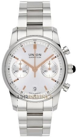 UNION Glashuette Seris in der Version D004-227-11-031-01 in Stahl mit Stahlband