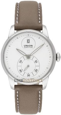 Union Glashuette Seris in der Version D013-228-16-011-00 in Stahl mit Lederband